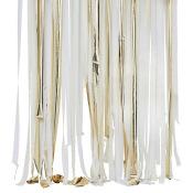 Rideau Backdrop à frange Blanc & Or