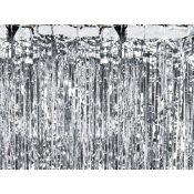 Rideau Backdrop scintillant Argent