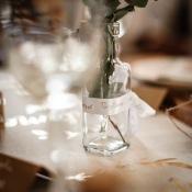 Ruban Baptême satin Blanc Floqué Or
