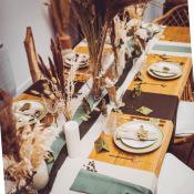 Ruban de table Mousseline Vert Eucalyptus
