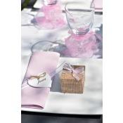 Ruban organdi rose pastel bord satin