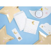 Sachets à bonbon Little Star Blanc & Or (x6)