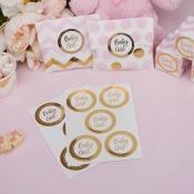 Sachets à bonbon papier pois Rose et Or (x25)