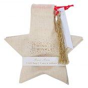 Sacs cadeaux en forme d'étoiles Or  (x3)
