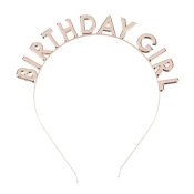 Serre Tête Birthday Girl Rose Gold
