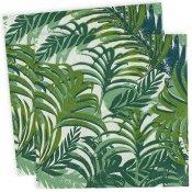 Serviettes Cocktail en papier Feuillages Tropiques (x20)