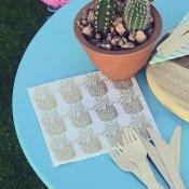 Serviettes en papier Ananas Or (x20)