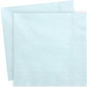 Serviettes en papier Bleu Clair Uni (x20)