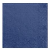 Serviettes en papier Bleu Marine Uni (x20)