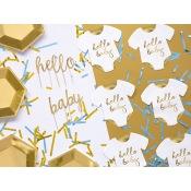 Serviettes en papier Body Hello Baby Blanc & Or (x20)