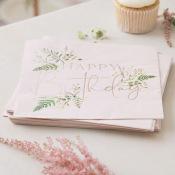 Serviettes en papier Botaniques Rose Gold (x16)