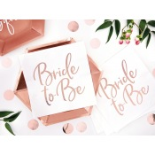 Serviettes en papier Bride to Be Rose Gold (x20)