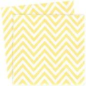 Serviettes en papier Chevron Jaune (x20)