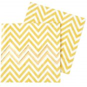 Serviettes en papier Chevron Or (x20)