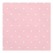 Serviettes en papier Coeur Rose & Blanc (x20)