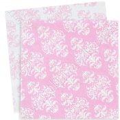 Serviettes en papier Damassées Rose (x20)