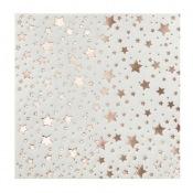 Serviettes en papier Etoile Rose Gold (x20)