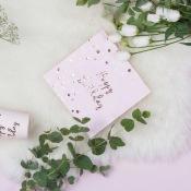 Serviettes en papier Happy Birthday Rose Gold (x20)