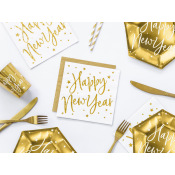 Serviettes en papier Happy New Year Or (x20)