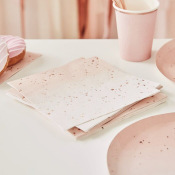 Serviettes en papier Ombré Rose Gold (x16)