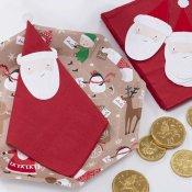 Serviettes en papier Père Noel  Rouge  (x12)
