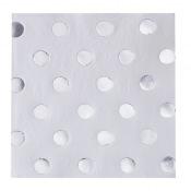Serviettes en papier Pois Argent (x20)