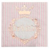 Serviettes en papier Princesse Rose & Or (x16)