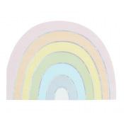 Serviettes en papier Rainbow Iridescent (x10)