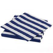 Serviettes en papier Rayure Bleu Marine (x20)