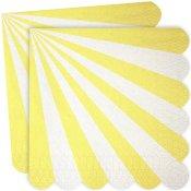 Serviettes en papier Rayure Jaune (x20)