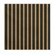 Serviettes en papier Rayure Noir & Or (x20)