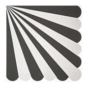 Serviettes en papier Rayure Noir (x20)