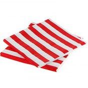 Serviettes en papier Rayure Rouge (x20)