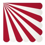 Serviettes en papier à Rayure Rouge (x20)