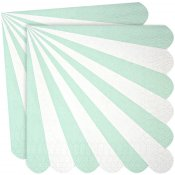 Serviettes en papier Rayure Vert d'Eau (x20)