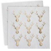 Serviettes en papier Renne Or (x20)