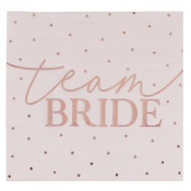 Serviettes en papier Team Bride Rose Gold (x16)