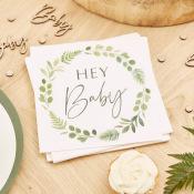 Serviettes en papier Végétal Hey Baby (x16)