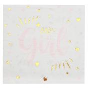 Serviettes papier Baby Girl (x20)