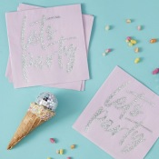 Serviettes papier Iridescent Let's Party (x16)