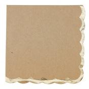 Serviettes papier Kraft et Or Joyeux Anniversaire (x16)