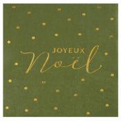 Serviettes papier Merry Christmas Argenté (x20)