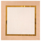 Serviettes papier Merry Christmas Or (x20)