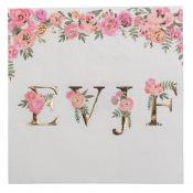 Serviettes papier Oui EVJF Floral & Or (x16)