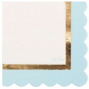 Serviettes Papier So Chic Bleu & Or (x16)