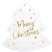 Serviettes Sapin de Noel Merry Christmas (x20)