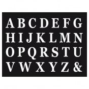 Set de 48 Lettres Adhésives Blanches H13.5cm