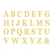 Set de 48 Lettres Adhésives Or H13.5cm