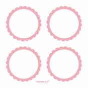 Étiquettes Candy Bar autocollantes rose (x20)