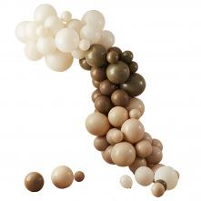 Arche de Ballons Jungle Safari Café Crème